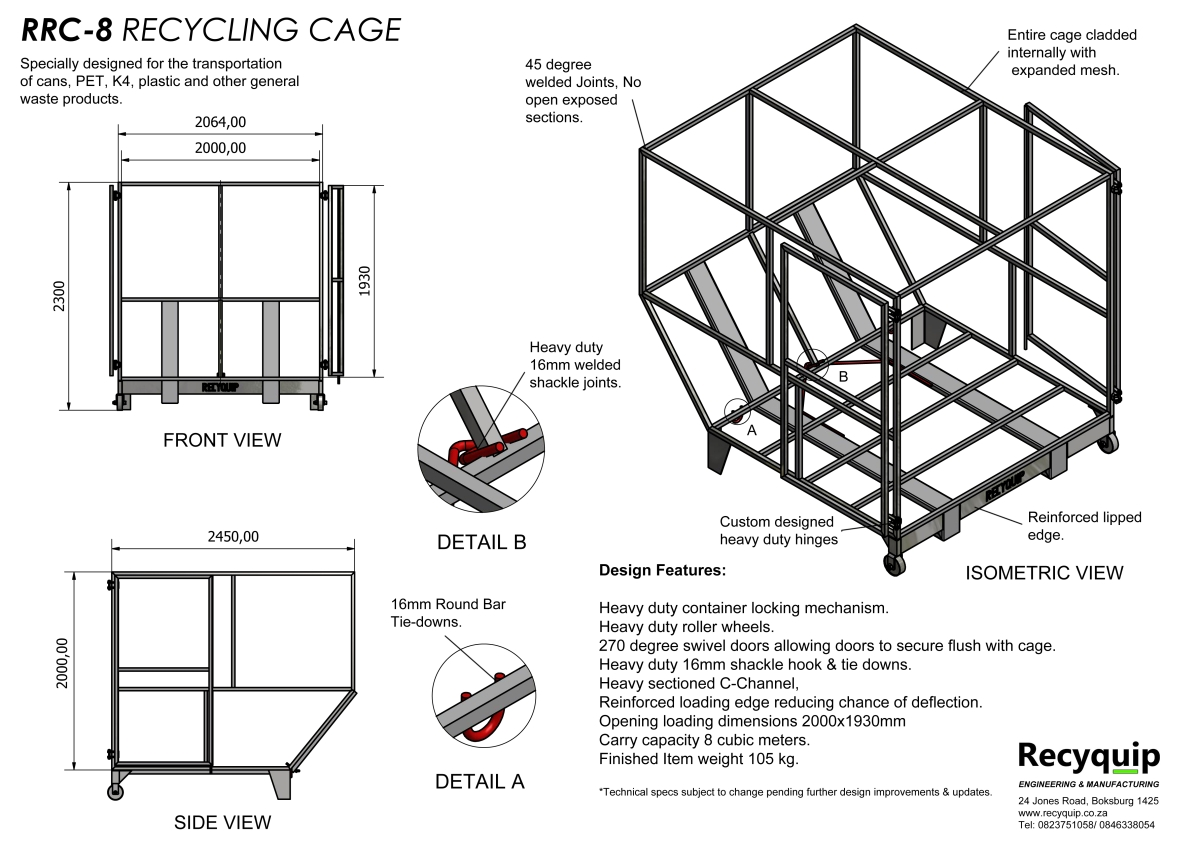 waste recycling cages