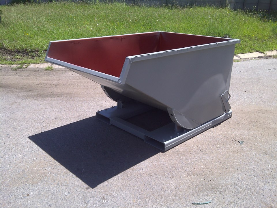 waste recycling rocker bin