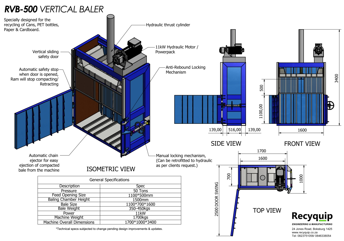 rvb-500 vertical baler catalogue brochure